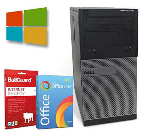 Dell OptiPlex 390 Tower | Intel Core i5-2500@ 3,3GHz | 4GB | 250GB HDD | DVD-ROM | Windows 10 Pro | BullGuard | SoftMaker Office (Generalüberholt)
