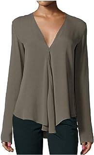 Mogogo Women's Chiffon Loose Flowy-Body/Shape Pullover T-Shirt Top