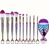 Set de Brochas de Maquillaje Profesional Cepillos de Maquillaje para las Facial y Cejas y Labios por ESAILQ U