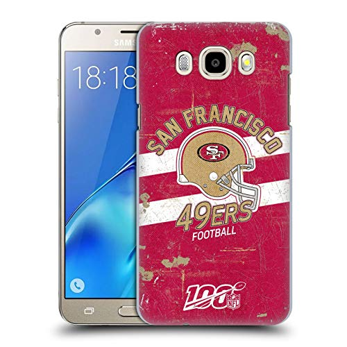 Head Case Designs Oficial NFL Casco Distressed Look 100th 2019/20 San Francisco 49ers Carcasa rígida Compatible con Samsung Galaxy J5 (2016)