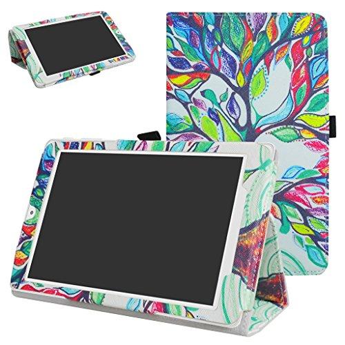 MAMA MOUTH Alcatel OneTouch Pixi 3 Custodia, Slim Sottile di Peso Leggero con Supporto in Piedi Caso Case per 8 Alcatel OneTouch Pixi 3 8 3G Tablet PC,Love Tree