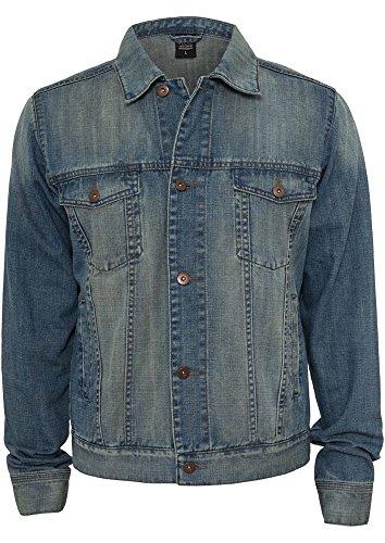 Urban Classics Herren Denim Jacket Jacke, Blau (Lightblue 344), Small