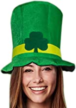 St. Patrick's Day Oversized Green Shamrock Fabric Hat Party Accessory Adult Costume Cap