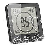 LTXDJ Horloge de Douche numérique de Salle de Bain, étanche aux éclaboussures deau Grand écran Afficher Le Calendrier Mois Date Température Humidité(La Couleur est sujette à l'image)