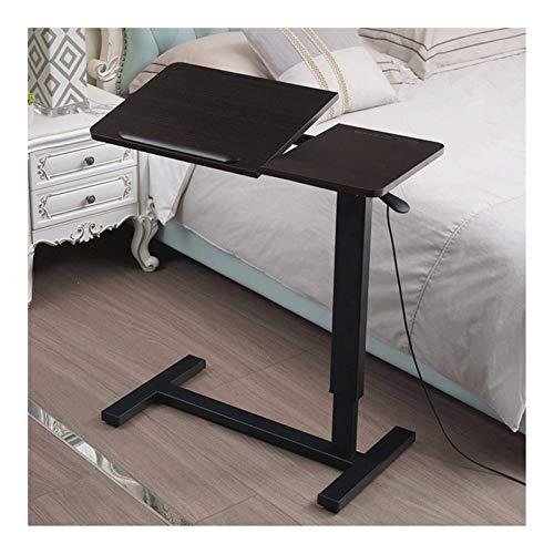Mutmi Tabla portátil raíces, Altura de la Mesa Ajustable, Muebles con Ruedas, Adecuado para el Dormitorio, Sala de Estar, salón de Clases para la Sala de Estar o en la Oficina (marrón),Negro