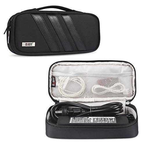 BUBM Tasche für AC Adapter und Reiseveranstalter für Laptop - ladegerät oder Beutel Deckung für Ladekabel und anderes Zubehör, Schwarz