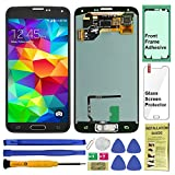 Display Touch Screen (AMOLED) Digitizer Assembly with Home Button for Samsung Galaxy S5 All Models (Unlocked) G900 G900A G900P G900V G900T G900R4 G900F G900H (for Repair Replacement) (Charcoal Black)