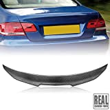 Rolling Gears Real Carbon Fiber Trunk Spoiler Wing Compatible with 2007-13 BMW 3-Series E92 Coupe (D-Style)