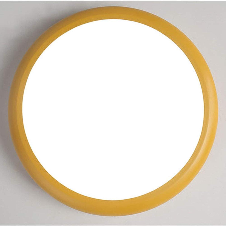 LRXHGOD Led Smart Deckenleuchte Sprachsteuerung Induktionslampen Einfache Schlafzimmer Licht Kreative Handy APP Sprachsteuerung,Gelb