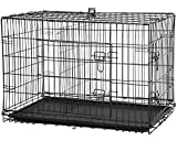 New Cat Dog cage Pet Kennel Folding Crate Wire Metal Cage W/Divider (42')