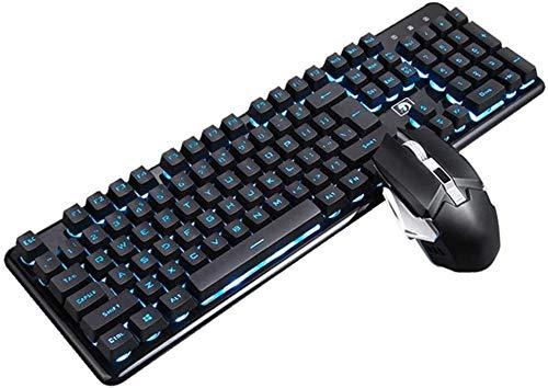 LG Snow Souris sans Fil Clavier Étanche sans Fil De Charge Voyant Gaming Clavier Souris Set Rétro-éclairage Coloré 2400DPI Rechargeable Gaming