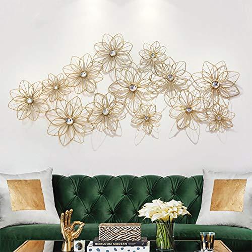 YLEI Nie verwelkte Blumen Metall Wandbehang Wanddekoration, minimalistischer Stil, Hohles Design, Für Schlafzimmer, Wohnzimmer, Flur