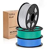 SUNLU 3D filament 1.75, PLA+ Filament 1.75mm, 3KG PLA+ Filament 0.02mm...