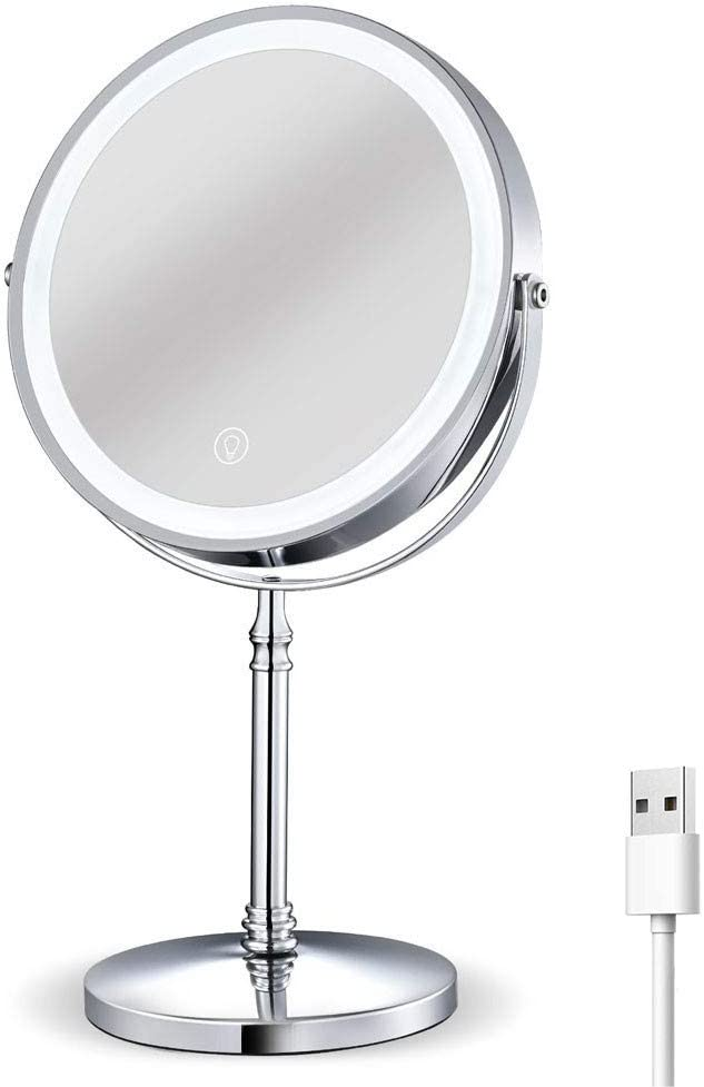 Rechargeable Lighted Makeup Mirror 8 Fashionable Inch Spasm price Sided 1x Double M 10x