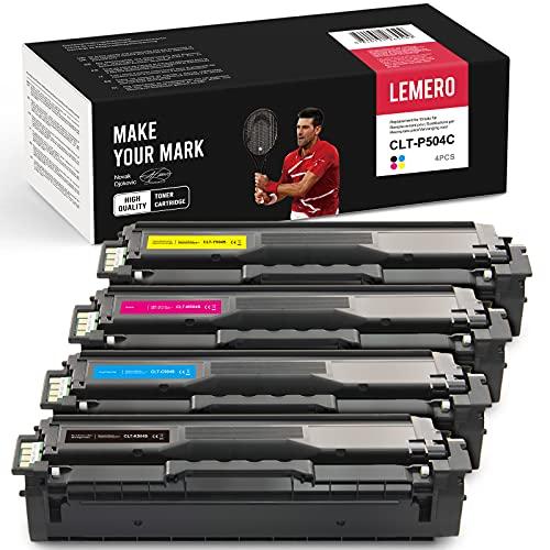 4 LEMERO Kompatibel CLT-P504C Toner für Samsung CLT-K504S C504S M504S Y504S für CLX-4195 CLX-4195N CLX-4195FN CLX-4195FW CLP-415 CLP-415N CLP-415NW CLP-470 CLP-475 CLX-4170 Xpress SL-C1810W SL-C1860FW