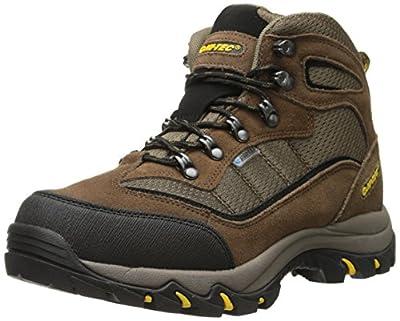 Hi-Tec Men's Skamania Mid Waterproof Hiking Boot, Brown/Gold,9 W US