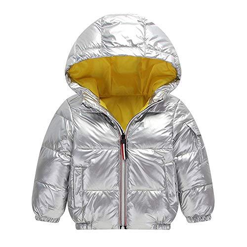 Escudo con capucha Cara brillante fresco de la capa capa del invierno engrosamiento Niños grueso de los niños de los niños chaquetas de abrigo Invierno caliente grueso ( Color : Red , Size : 100cm )