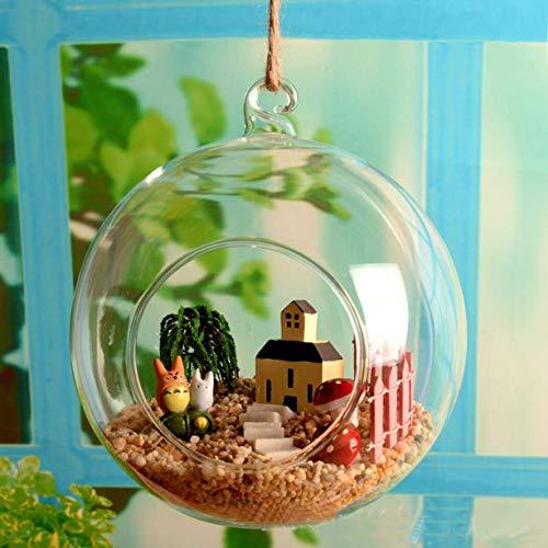djryj Kleurrijke Ophangglas Vaas Planten Terrarium Micro Landschap Fles Kaarsenhouder met haak voor Home Decoratie