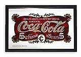 Close Up Coca-Cola - Espejo de Pared (5 céntimos con Marco de plástico Negro)