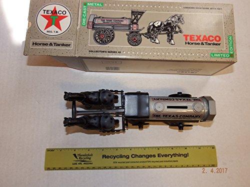 Texaco ERTL Die Cast Horse & Tanker Locking Coin Bank Collector's Series #8