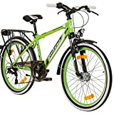 Galano Adrenalin 26 Zoll Mountain Bike Fahrrad Hardtail Mountainbike mit MTB Rahmen und V Brake 21 Gang Mädchen Jungen Jugendfahrrad Federgabel Fahrräder (grün, 47 cm)