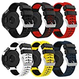 Yayuu Compatible con Forerunner 235 Correa de Reloj, Banda de Reemplazo Silicona Suave Sports Pulsera para Forerunner 235/220/230/620/630/735XT Smart Watch (A1, 6 Paquete)