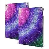 ZSMJ Coque pour iPad 1/2 Motif floral ethnique mandala sur fond violet Galaxy Texture Line Pattern...