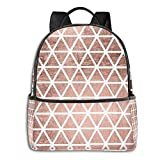Paquete de mochila Rose Gold Pattern Backgrounds Printed Multifunctional Men'S And Women'S Backpacks Business And Travel Laptop Backpacks School Bags 14.5x12x5 In