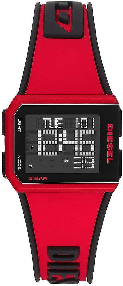 Diesel orologio analogico-digitale uomo, con cinturino in silicone DZ1923