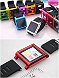 Aiboco iPod Nano 6 6G Watch Wrist Straps Band with Full Cover Alumium Case (Gray)