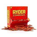 RYDER Preservativos - Paquete de 500 - Condones de tamaño normal en una caja a granel práctica; Tetina con un lubricante para una penetración suave.