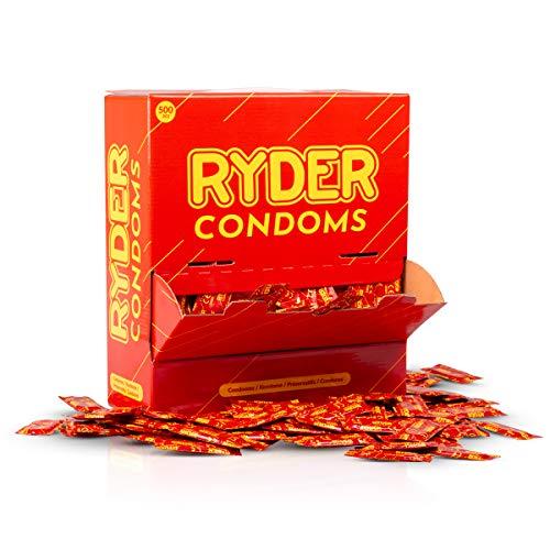 Ryder Kondome Normal Große Kondome in Praktischer Großpackung; Mit Reservoir und mit Gleitmittel versehen, 500 er Pack