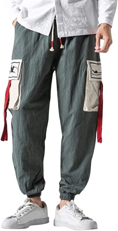 ZOMUSAR Men S Short Legged Trousers For Leisure Overalls Fashion Retro Trouser For Men