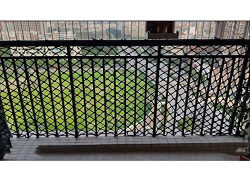 HJRD Child Safety Net, Climbing Net, Balcony Net, Cat Net, Stair Anti-fall Net, Garden Fence Net, Kindergarten Decoration Net, Cargo Net, Hanging Net, Nylon Net, Black