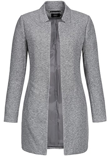 Only Onlsoho Coatigan Noos TLR Abrigo, Gris (Light Grey Melange Light Grey Melange), 40 (Talla del Fabricante: Large) para Mujer