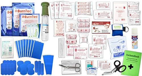 Erste Hilfe FÜLLUNG Gastro für Betriebe DIN/EN 13157 Plus 3 INKL. Augenspülung + Brandgel + detektierbare Pflaster + Hydrogelverbände + SPRÜHPFLASTER