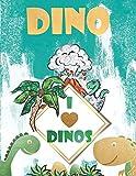 Dinosaurier Buch für Kinder: Malbuch + Malen Nach zahlen ab 4: Mein tolles Dino Buch zum Ausmalen mit spannenden Fakten und Hintergrundwissen. ... Mädchen ab 4 Jahren, die Spaß am Malen haben