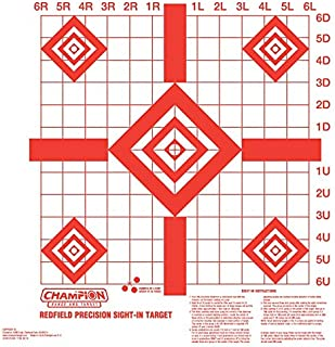 Champion Redfield Style Precision Sight-In Target (10-pack)