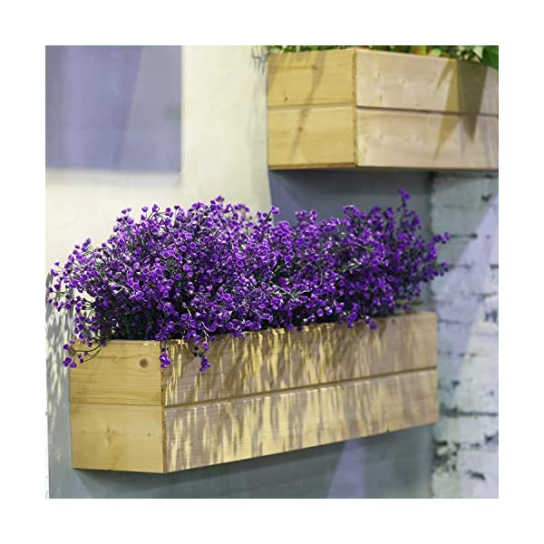 12 Manojos Flores Arbustos Artificiales Plantas Flores Exteriores Resistentes a Rayos UV (Verde)