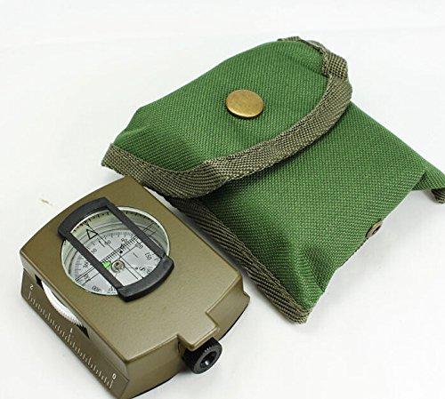 Boussole professionnelle multifonction de poche militaire géologie avec sangle tour de cou et pochette de transport TK-4580