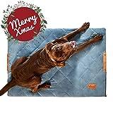 PiuPet Hundedecke gepolstert 70 x 100cm - Hundematte grau - passend auch für große Hunde