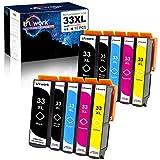 Uniwork 33XL Cartucce d'inchiostro Sostituzione per Epson 33 33XL 33 XL Compatibile con Epson Expression Premium XP-530 XP-540 XP-630 XP-635 XP-645 XP-640 XP-830 XP-900 XP-7100