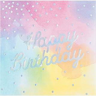 Iridescent Party Happy Birthday Napkins, 48 ct