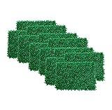 ROYAL STAR TY Paneles de coberturas de bojas Artificiales, Muro de Hierba de imitación, arbustos de Fondo, jardín Pantalla de privacidad Decoración de Cerca, Paquete de 24pcs by