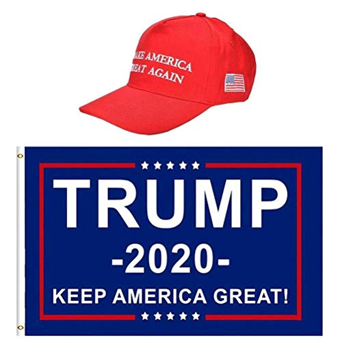 Warmshine Trump Flags&Trump Hat 2024 Take America Back Flag Banner with Brass Grommets Outdoor Indoor Decoration Banner,3x5 ft (Style2)