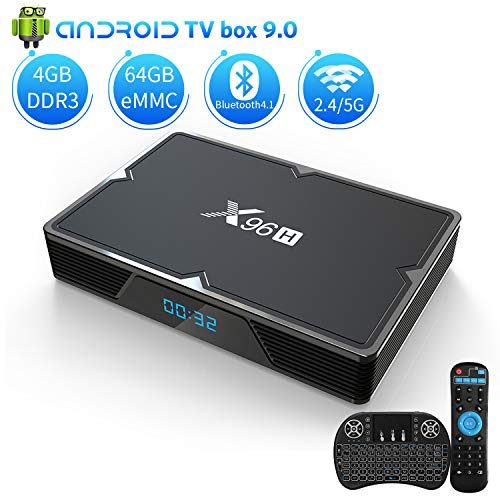 bon à choisir Android 9.0 TV-Box 4 Go de RAM 64 Go ROM, KMCBOX X96H Android Box Allwinner H603 Quad Core 64 bits Dual WiFi 2,4 G / 5,0 G, 3D Ultra HD 4K H.265 USB 3.0 BT4.1 Smart TV Box