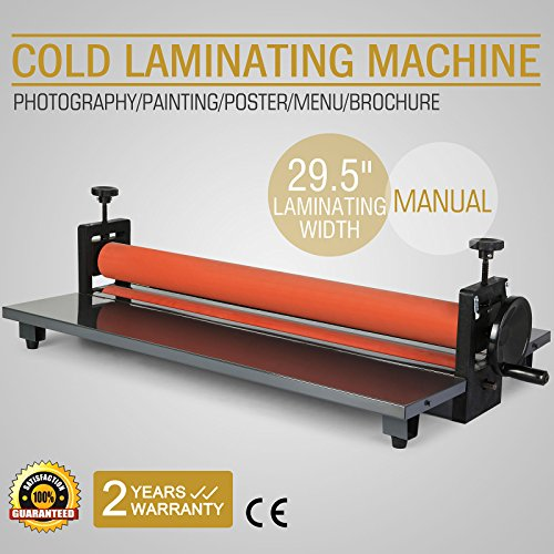 FurMune Kaltlaminator Manuell Rollenlaminator Cold Laminating Machine 750 mm Hohe Präzision Fold Up Table Light Weight (750MM)