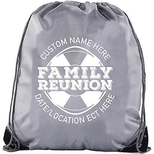 BOUIA Rettungsfloß-Druck mit individuellem Namen und Datum - Familientreffen-Gastgeschenk-Taschen 36X43CM