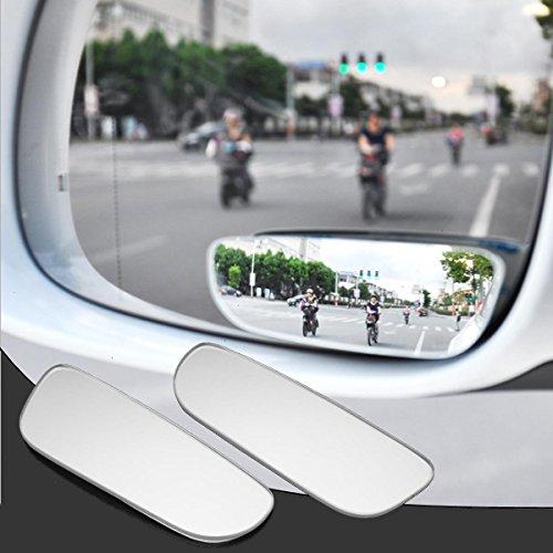 JenNiFer 2Pcs Slim Auto Rückansicht Toten Winkel Spiegel 360 ° Rotierenden Konvexen Weitwinkel Spiegel