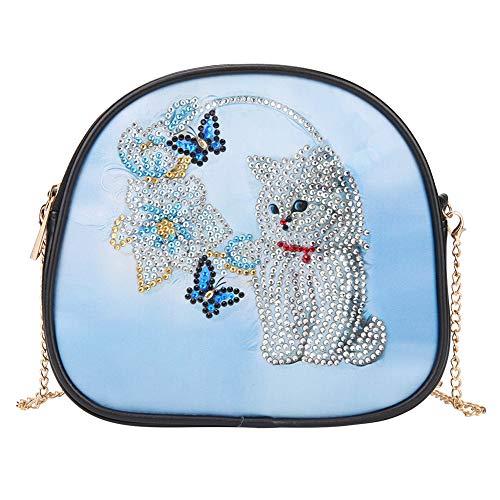 SHUIBIAN Umhängetasche damen DIY Diamond Painting Damen Schultertasche Portemonnaie Leder Brieftasche Tasche Damen Schultertasche Kette